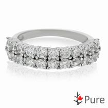 Pure Cubic Zirconia Semi-Eternity Ring set in Sterling Silver 8