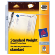 Avery® Standard Weight Sheet Protectors 100's