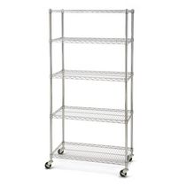 Seville Classics 5 Shelf Shelving with Wheels