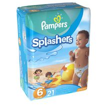 Pampers Splashers Disposable Swim Pants Size 6