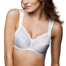 WonderBra style 2404 - Full support wire free, cushioned straps White C40