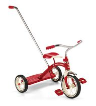 Radio Flyer Classic Red 10-inch Tricycle with Push Handle