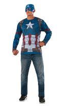 Costume pour adultes T-shirt Captain America à manches longues de Captain America: Civil War par Rubie's Grand