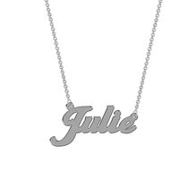 Women's Sterling Silver Name Plate with Chain - Julie