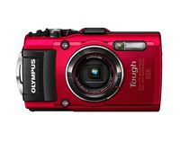 Appareil photo numérique Tough TG-4 d'Olympus de 16 MP en rouge