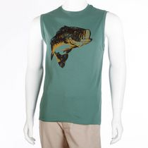 George Men's Screen Print Muscle Tee Olive M/M