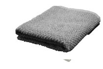 Popcorn Textured Bath Towel Grey