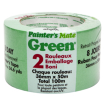 Ruban de Masquage Painter's Mate Green 1.5 po Paquet de 2