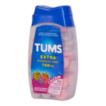 Tums Extra Strength Calcium Carbonate Tablets