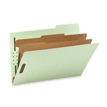 Smead Colored Pressboard Classification Folders with SafeSHIELD Fasteners
