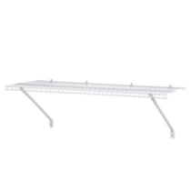 "4' x 12"" SuperSlide Prepack Shelf  - White"