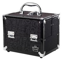 Caboodles 8.5 Inches Black Print Cosmetic Train Case - 4 Tray