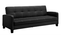 DHP Delaney Sofa Sleeper, Black