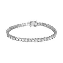 """Bride to Be"" Sterling Silver Cubic Zirconia Tennis Bracelet"