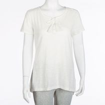 George Women's Knit Peasant Top Natural XL/TG