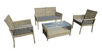 Henryka 4-Piece Conversation Patio Set - Beige