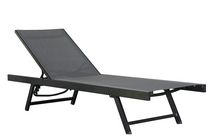 Vivere Aluminum Urban Sun Lounger Black chrome