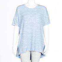 George Women's Drop Shoulder Hacci Top Blue L/G