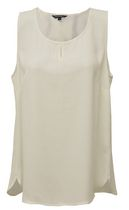 George Women's Solid Keyhole Camisole Natural L