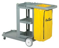 Continental Blue Janitor Cart with Vinyl Bag