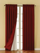 Eclipse Suede Thermaback Curtain  Panels White
