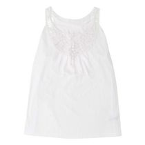 George Women's Crochet Trim Tank White XL