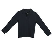 George Boys' School Uniform Long Sleeved Pique Polo Shirt Navy XL/TG