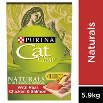Purina® Cat Chow® Naturals plus Vitamins & Minerals Original with Real Chicken & Salmon Cat Food 5.90KG