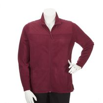 George Plus Women's Fleece Jacket Burgundy 2X
