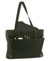 Stebco Black Ladies Business Tote with Removable Laptop Sleeve (263903BLK)