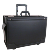 Stebco Black Catalog Case on Wheels with Leather Trim (341626BLK)