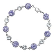 PAJ Iceberg Collection Crystal Station Bracelet Purple