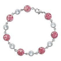 PAJ Iceberg Collection Crystal Station Bracelet Pink
