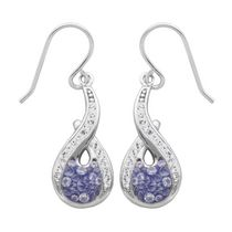 PAJ Boucle d'oreille pendante Collection Cristal Iceberg - tanzanite