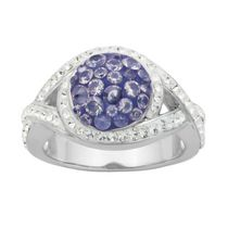 PAJ Bague arrondie Collection Cristal Iceberg - tanzanite
