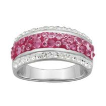 PAJ Bague jonc Collection Cristal Iceberg - rose fushia