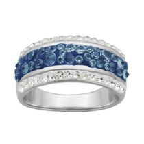 PAJ Iceberg Collection Crystal Band Ring - Midnight Blue