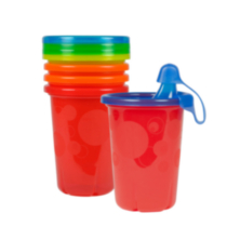 The First Years Take & Toss 10 oz Sippy Cups - 5 pack, colours may vary