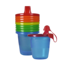 Paquet de 7 gobelets à bec 207 ml Take & Toss de The First Years - les couleurs peuvent varier