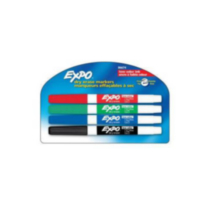 Expo Low Odour Fine-Point Dry-Erase Markers, Assorted, 4-Pack