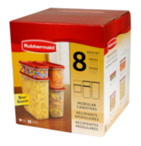 Rubbermaid 8 piece Modular Canister Set