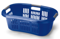 Rubbermaid 35.2L Hip Hugger Laundry Basket (Blue)