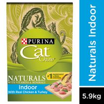 Cat Chow Naturals Plus Vitamin & Minerals Indoor Cat Food 5.90KG