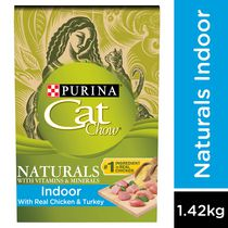 Cat Chow Naturals Plus Vitamin & Minerals Indoor Cat Food 1.42KG