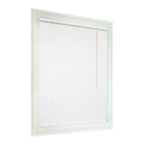 "PVC 1"" Light Filtering Blinds -White 17 W x 48 H to 43 W x 48 H 25 x 48"