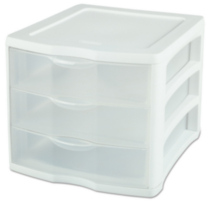 Sterilite 3 Drawer Unit (White)