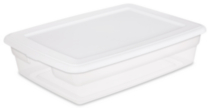 Sterilite 27 Liter White Storage Box