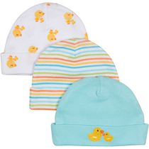 Gerber Newborn Baby Neutral 3-Pack Cap Aqua
