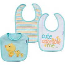 Gerber 3-Pack Terry Bibs - Neutral Aqua