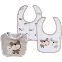 Gerber Chidrenswear Terry Bear Bibs - Pack of 3 Cocoa